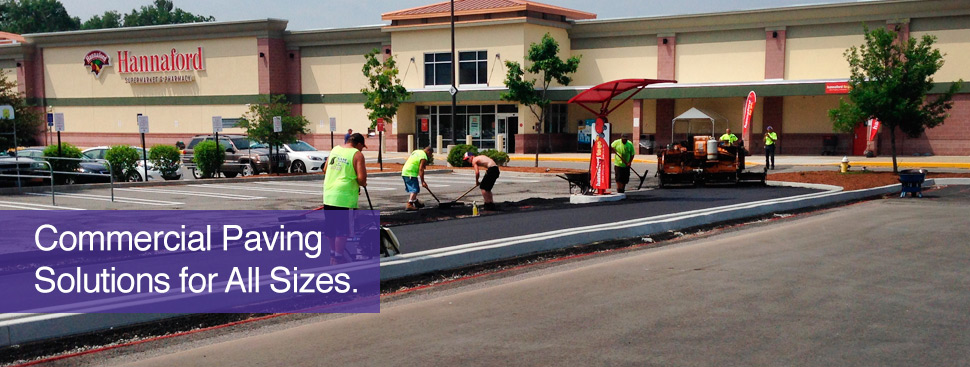 commercial paving and parking lots